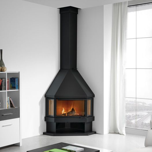 Best 25+ Corner Wood Stove Ideas On Pinterest