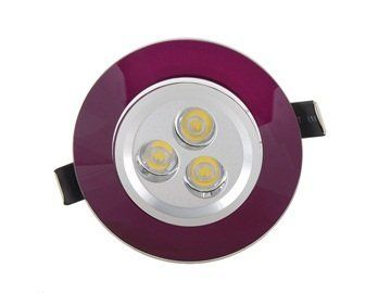 3*1W LED 80-90LM Warm White Light Round Ceiling Lamp with Purple Frame (Purple) by QLPD. $50.56. This ceilling lamp is suitable for homes, hotels, exhibition halls, lobbies, corridors, leisure and entertainment places.
