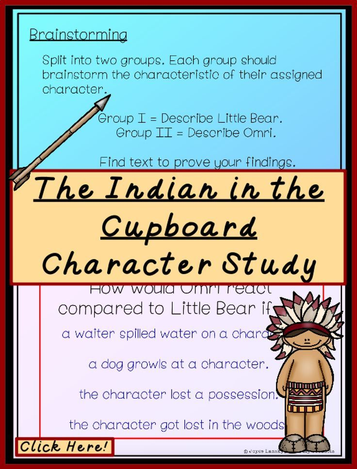The Indian In The Cupboard Novel Study Character Setting Indian In The Cupboard Teaching Novel Studies