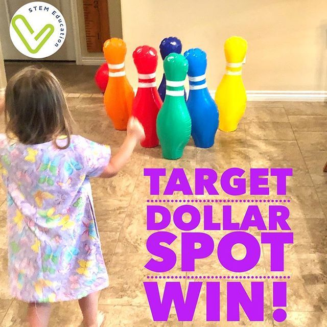 Bought This Giant Bowling Set In The Target Dollar Spot And While My Kids Are Enjoying It This Summer I Cant Wait Target Dollar Spot Vivify Stem Lesson Plans