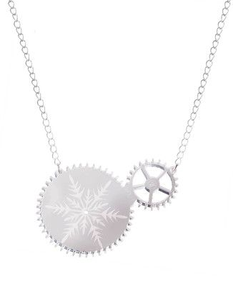 Lumi #Silver Mirror Pendant #Necklace