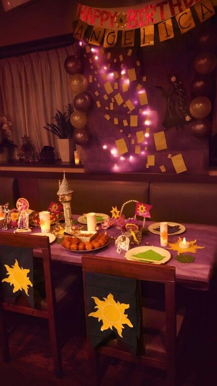 tangled party,table decoration