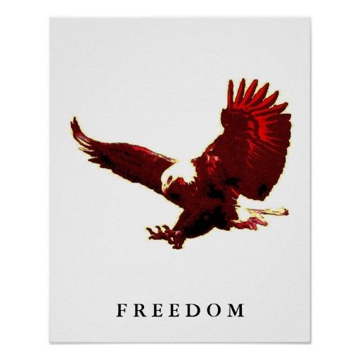 Freedom Eagle Motivational Confidence Art Poster
