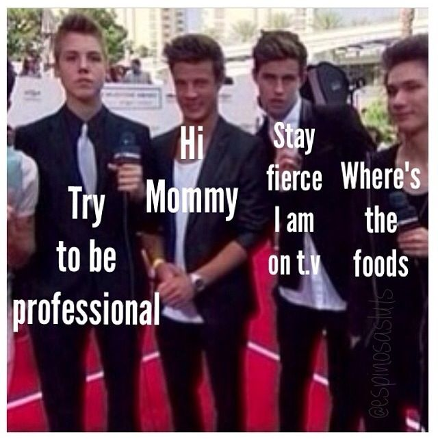Matt, Cam, Nash, and Carter at the BBMA's, I love them and they are hilarious!!❤️xoxo