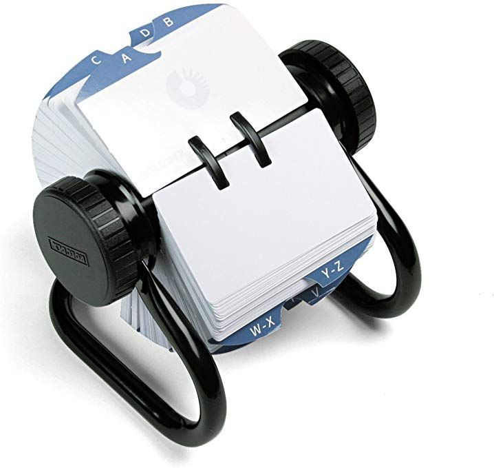 Rolodex 66704 Open Rotary Card File Holds 500 2 1 4 X 4 Cards Black Review Rolodex Card Files Holder Black