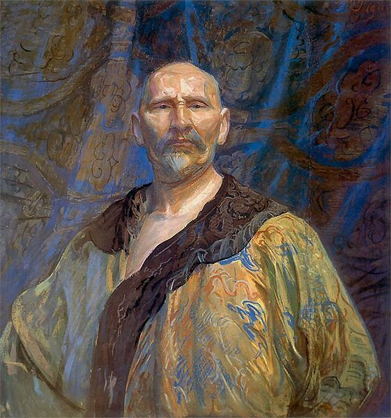 Leon Wyczółkowski, Self-portrait in Chinese gown.1911