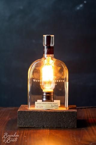 Woodford Reserve Handmade Bourbon Bottle Table Lamp