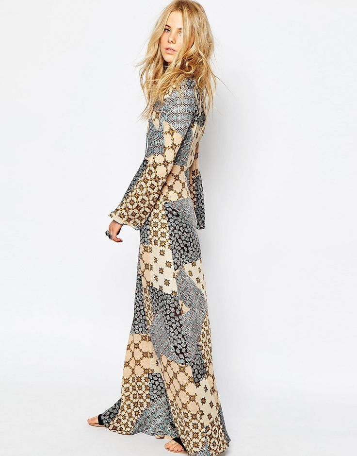Image 4 of Glamorous Printed Maxi Dress with Lace Up