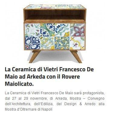 in Home page della Gazzetta di Salerno #ceramicafrancescodemaio #roveremaiolicato