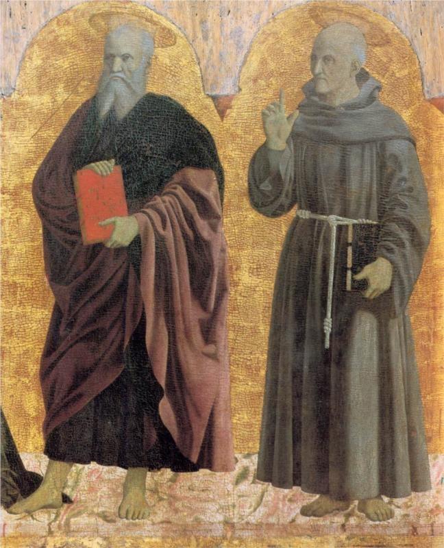 Piero della Francesca, St. Andrew and St. Bernadino, c. mid-15th century