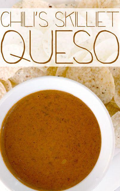Little Bitty Kitchen: Chili's Skillet Queso. Identical to chili's!! #copycat #recipe #queso