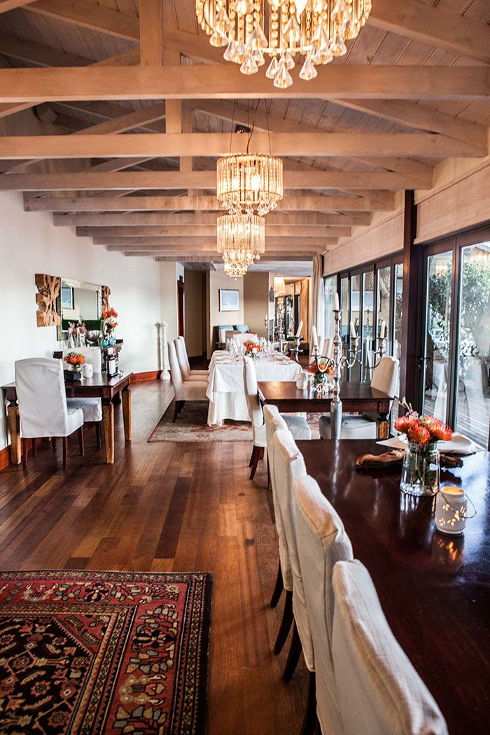 The dining room at Tintswalo Atlantic Lodge