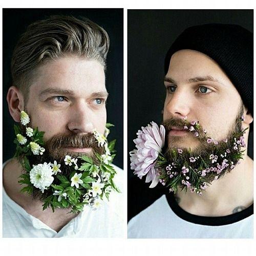 #flowerbeard: la tendenza degli hipster per l'estate 2014 è la barba floreale - MarieClaire