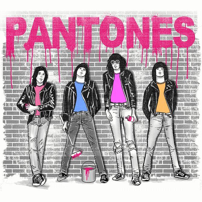 Camiseta 'Pantones' no Camiseteria.com .