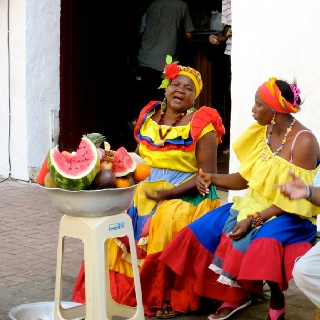 The vibrant locals, Cartagena, Colombia