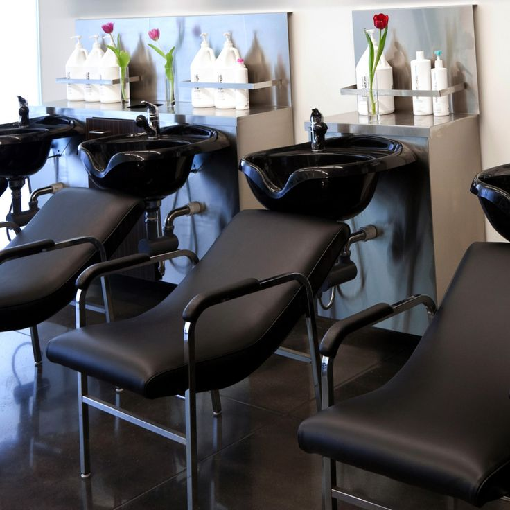 Attractive Shampoo Lounge Is A One Piece Reclined Seat. The Seat Is Stitched And  Covered In Synthetic Black Leather And Supported By A Welded Steel Chrome  Frame. Pictures Gallery