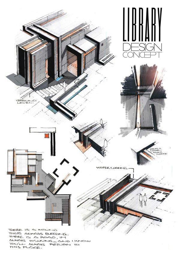 815 best ARCHITECTURE - DESSINS images on Pinterest Architectural