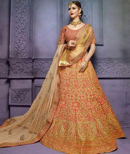 Buy Pink Art Silk Bridal Lehenga Choli 77758 online at best price from vast collection of Lehenga Choli and Chaniya Choli at Indianclothstore.com.