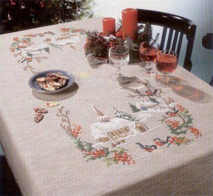 17 mejores ideas sobre Manteles De Mesas De Navidad en Pinterest ...