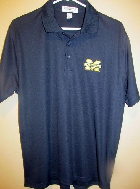 Michigan Wolverines Golf Polo shirt - Adult medium #Boca #MichiganWolverines