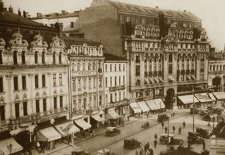 Bucureşti Calea Victoriei, anii 20 Hotelurile Continental şi Riegler