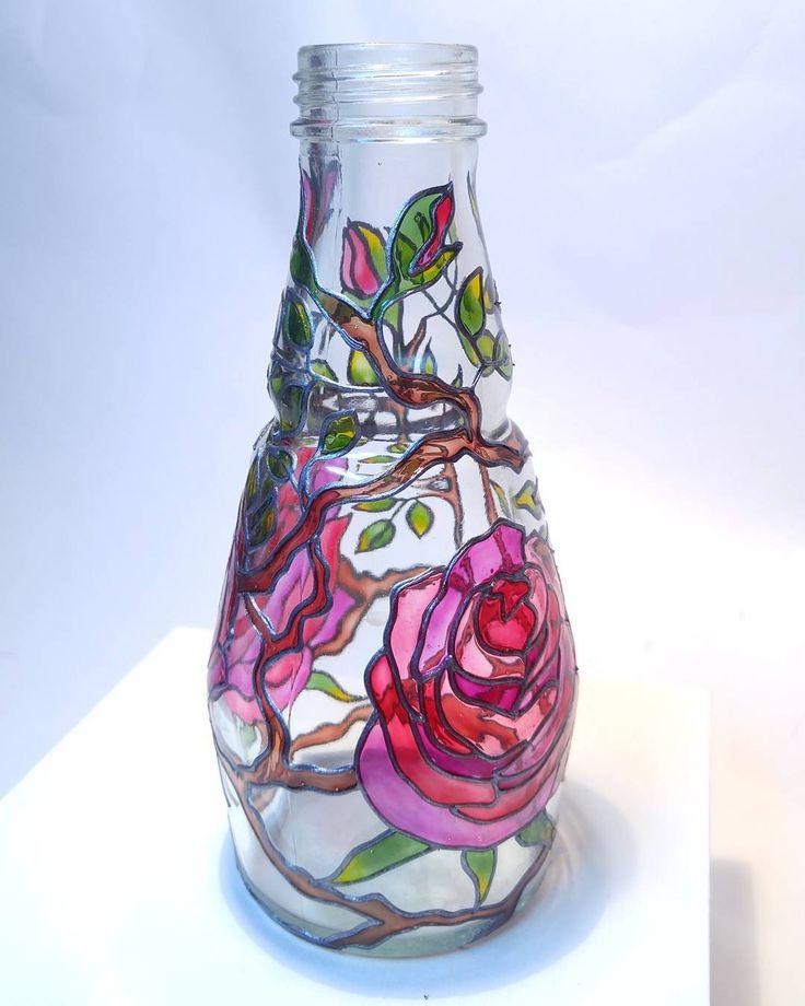 картинки по стеклу на вазочке делается оградка