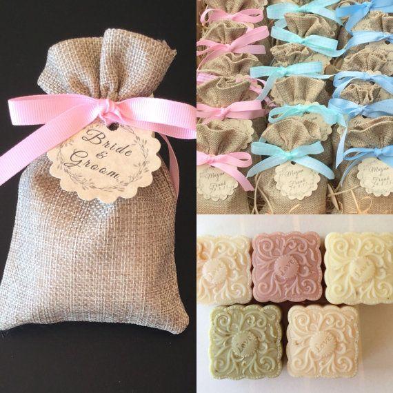 10 soap burlap bag wedding favors baby shower soap favors bridal shower favors