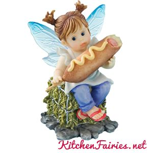 Corn Dog Fairie - From Series Twenty Two of the My Little Kitchen Fairies collection