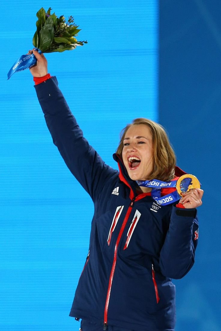 Team GB's Lizzy Yarnold wins Gold in the Skeleton at Sochi 2014 - inspiring athlete, fantastic attitude, enjoyed every minute