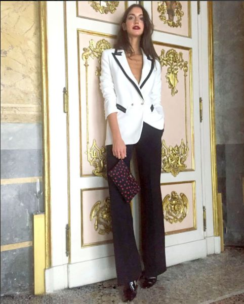 Sara Rossetto wear AnnaRita N Collection