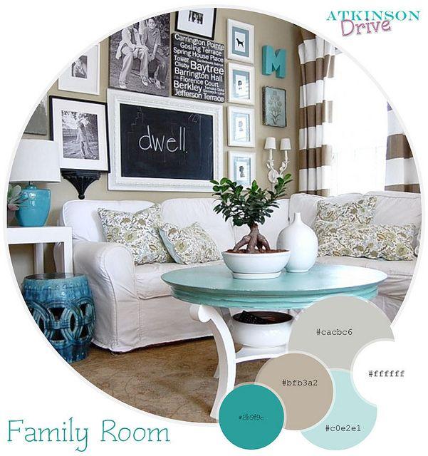 Aqua/turquoise color palette