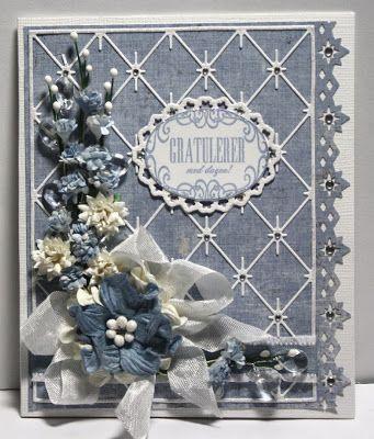 Unnis Papirhobby: Kort med blomster, DT Card and Scrap