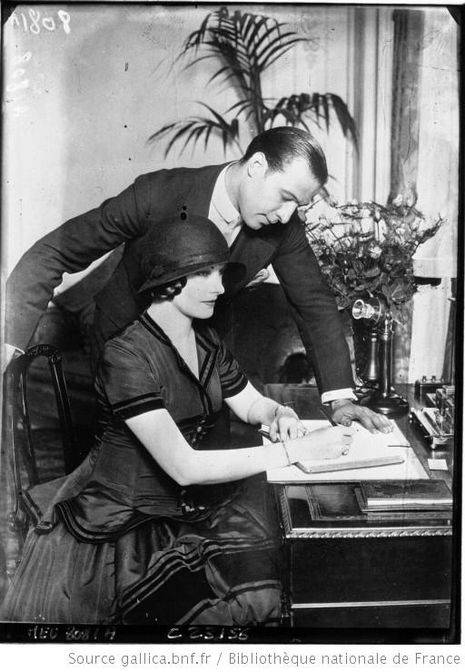 Rudolph Valentino and His wife, 1923