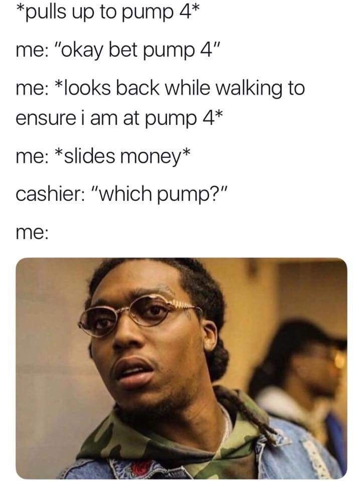 My life! And I'm always too short to see which pump at OnCue!