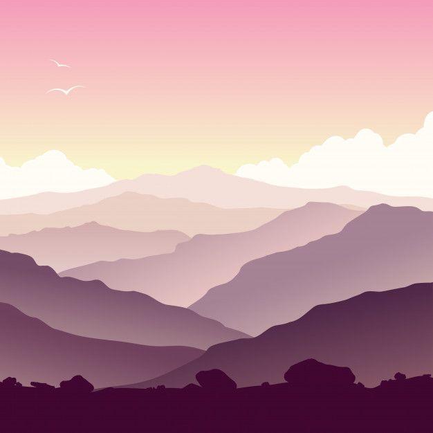 Purple Mountain Landscape Mountain Landscape Landscape Mountains