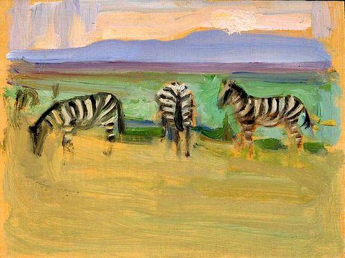 """Akseli Gallen-Kallela, """"Zebras"""", 1909"""
