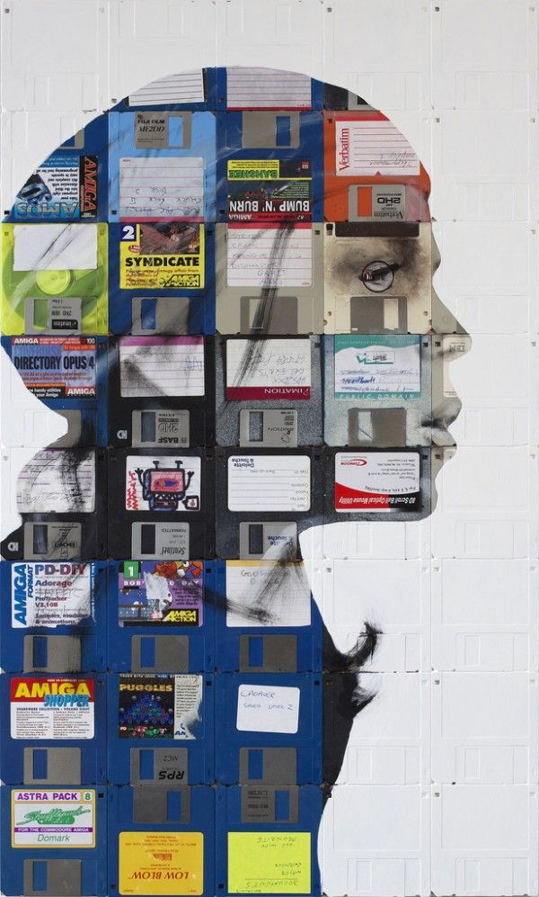 Floppy Disk Portraits by Nick Gentry