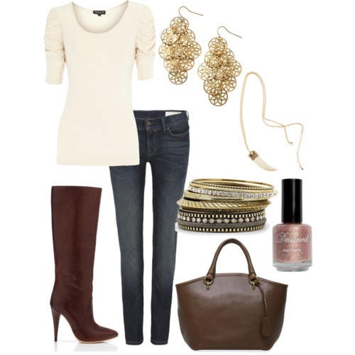 LOVE this! Perfect look for fall. Love the color top and the brown boot with the matching purse.: Casual Friday, Dreams Closet, Fall Style, Flats Boots, Winter Outfit, Fall Outfit, Fall Fashion, Brown Boots, Closet Ideas