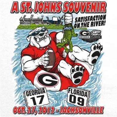 Georgia Bulldogs vs. Florida Gators 2012 St. Johns Score T-Shirt - White