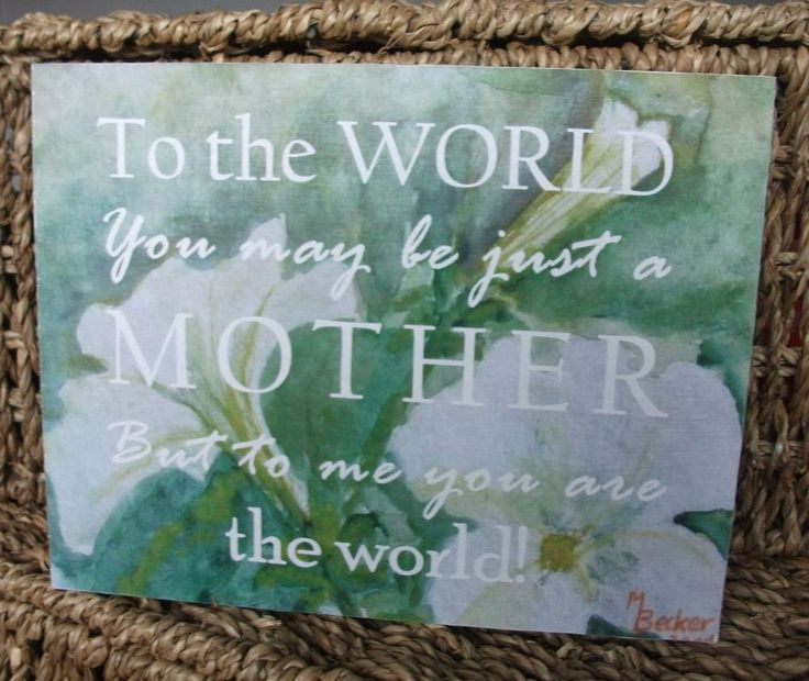 You are my world, mothers day, mummy, mum plaque, mother, gift, handmade plaque