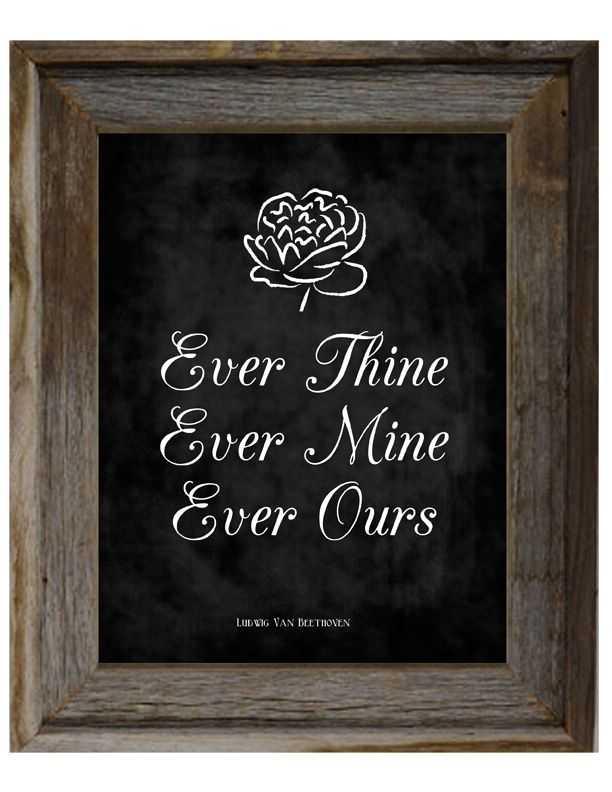 Ever Thine, Ever Mine, Ever Ours {FREE} Chalkboard Print. Free printable.  http://ohmygluestick.com