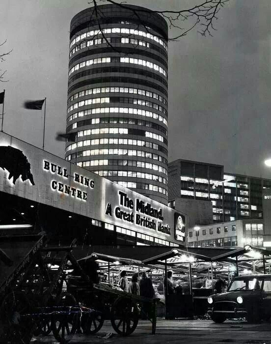 The 'old bull ring Birmingham uk,  nothing like this now!!!