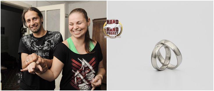 Hand In Hand: jegygyűrűkészítés saját kezűleg. Anett és Viktor fehér-arany jegygyűrűi.