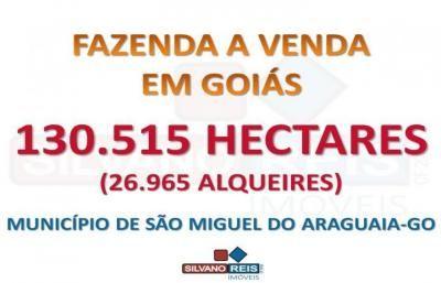 SILVANO REIS IMÓVEIS - Fazenda para Venda em São Miguel do Araguaia (GO).  FAZENDA 130.515 HECTARES LOCALIZADA NO NORTE GOIANO, VALE DO ARAGUAIA-GO.  A MAIOR FAZENDA DE CRIAÇÃO DE BOVINOS DE GOIÁS E UMA DAS MAIORES DO PAÍS!  UMA DAS FAZENDAS MAIS BEM MONTADAS DO BRASIL!