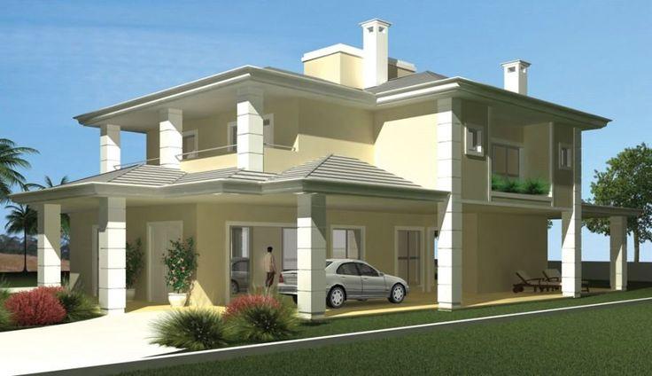 Fotos de fachadas de casas modernas com telhado aparente for Fotos de casas modernas com telhado aparente