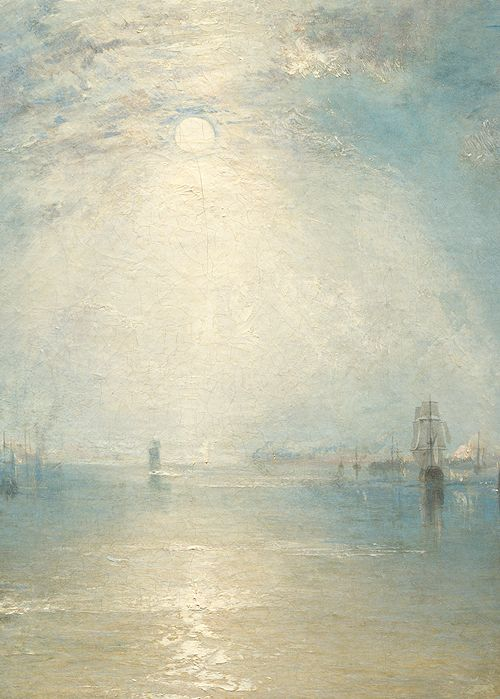 Turner, Keelmen Heaving in Coals by Moonlight (detail), 1835 j'aime cette lumière rendue!