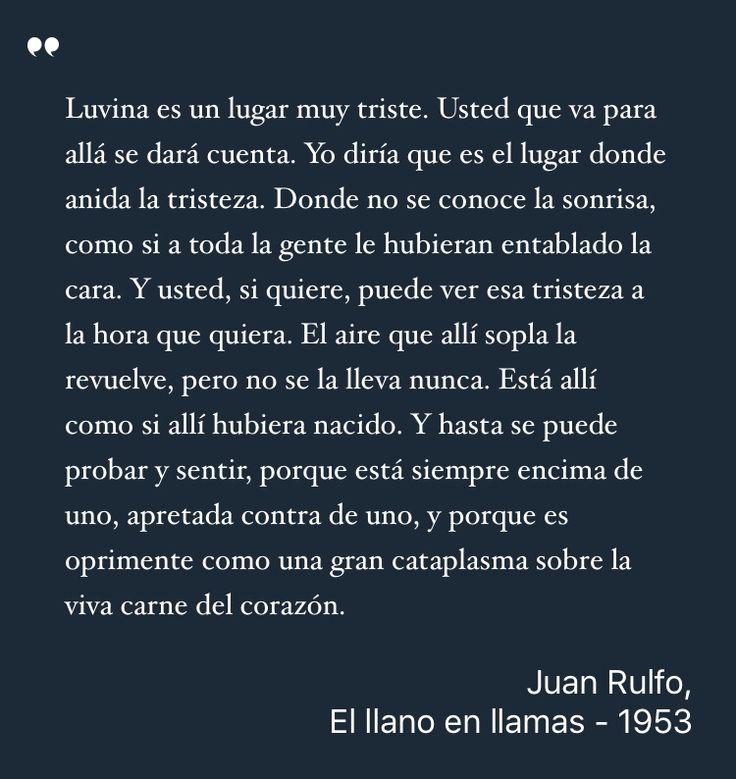 Estoy leyendo: El llano en llamas, Juan Rulfo #Libros #QueLeer #Frases