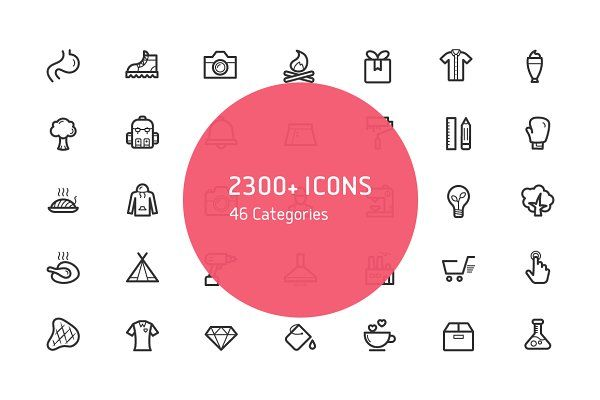 Sharpicons - 2300 Line Vector Icons - Icons