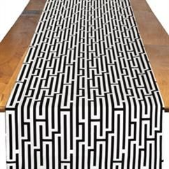 White Gemini Table Runner | Rent Table Linens & Decor | BBJ