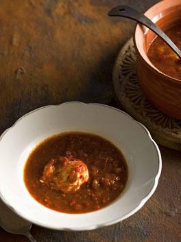 Sopa de tomate al comino (Tomato and cumin soup)